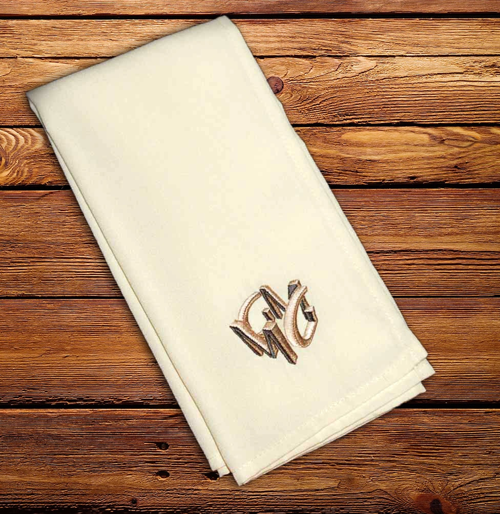 Embroidered Cloth Napkins For Weddings And Events