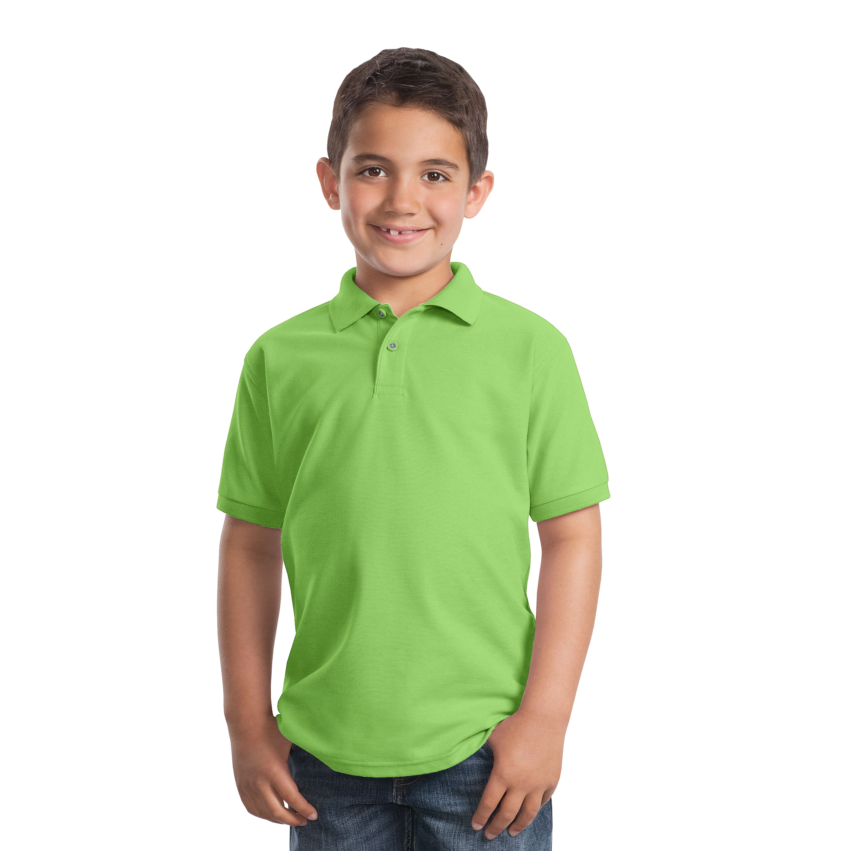 d975c6333 Youth Polo Silk Touch Shirt Port Authority® – Cherie4art Commercial ...