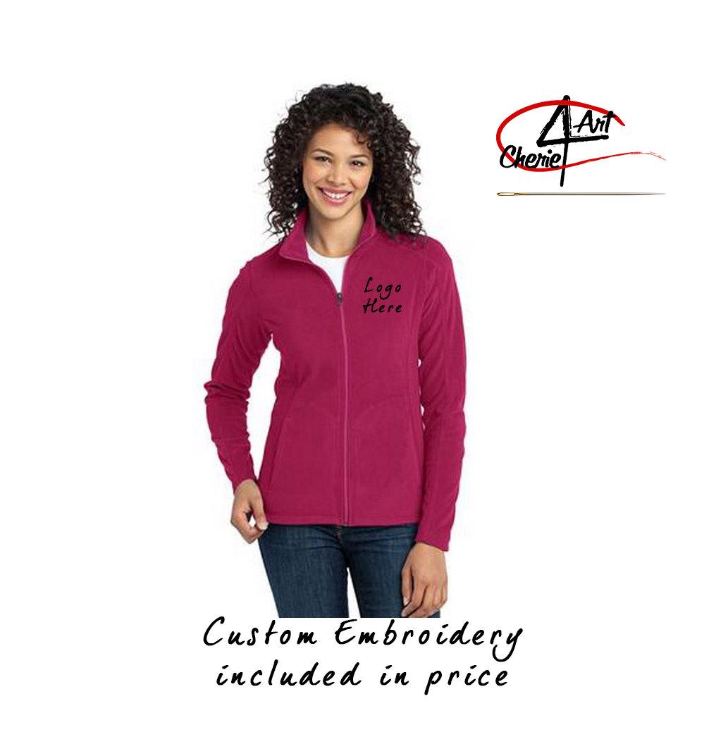 Women S Full Zipper Light Weight Fleece Jacket With Custom