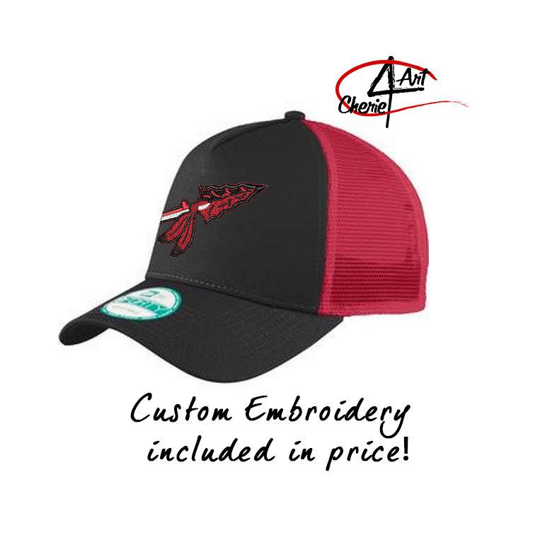 765092d9 New Era Snapback Mesh Trucker Cap – Cherie4art Commercial Embroidery