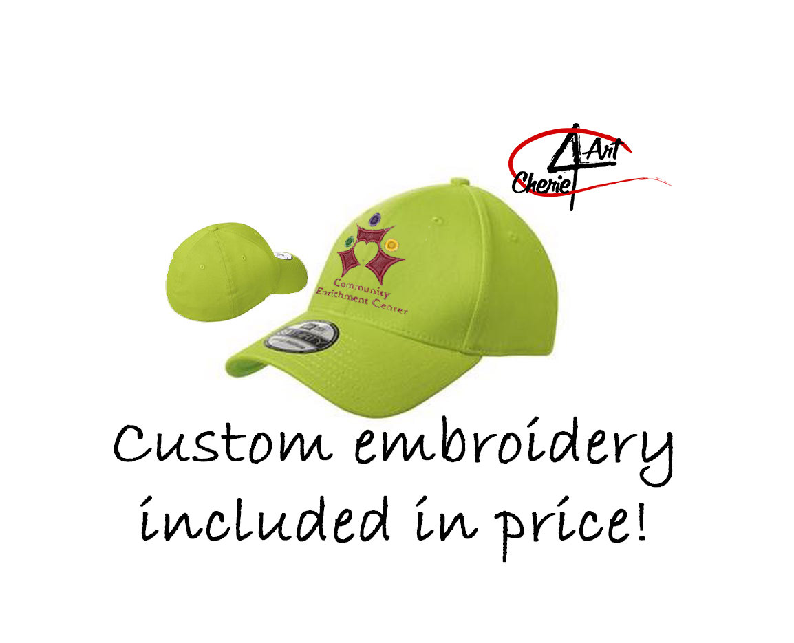 32300148201666 New Era® - Structured Stretch Cotton Cap. NE1000 custom embroidery ...