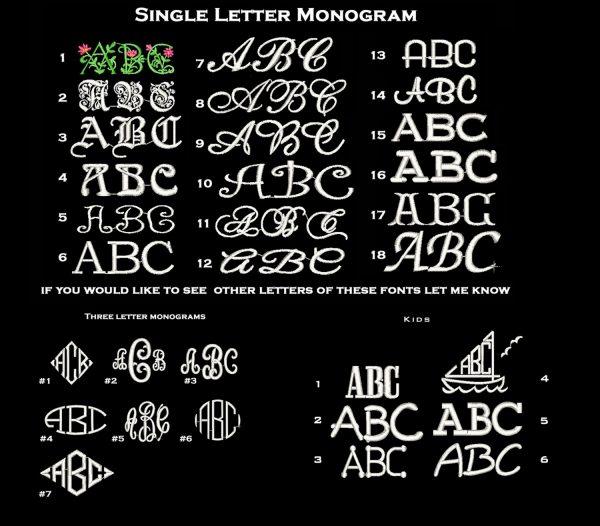 Monogram Font Samples