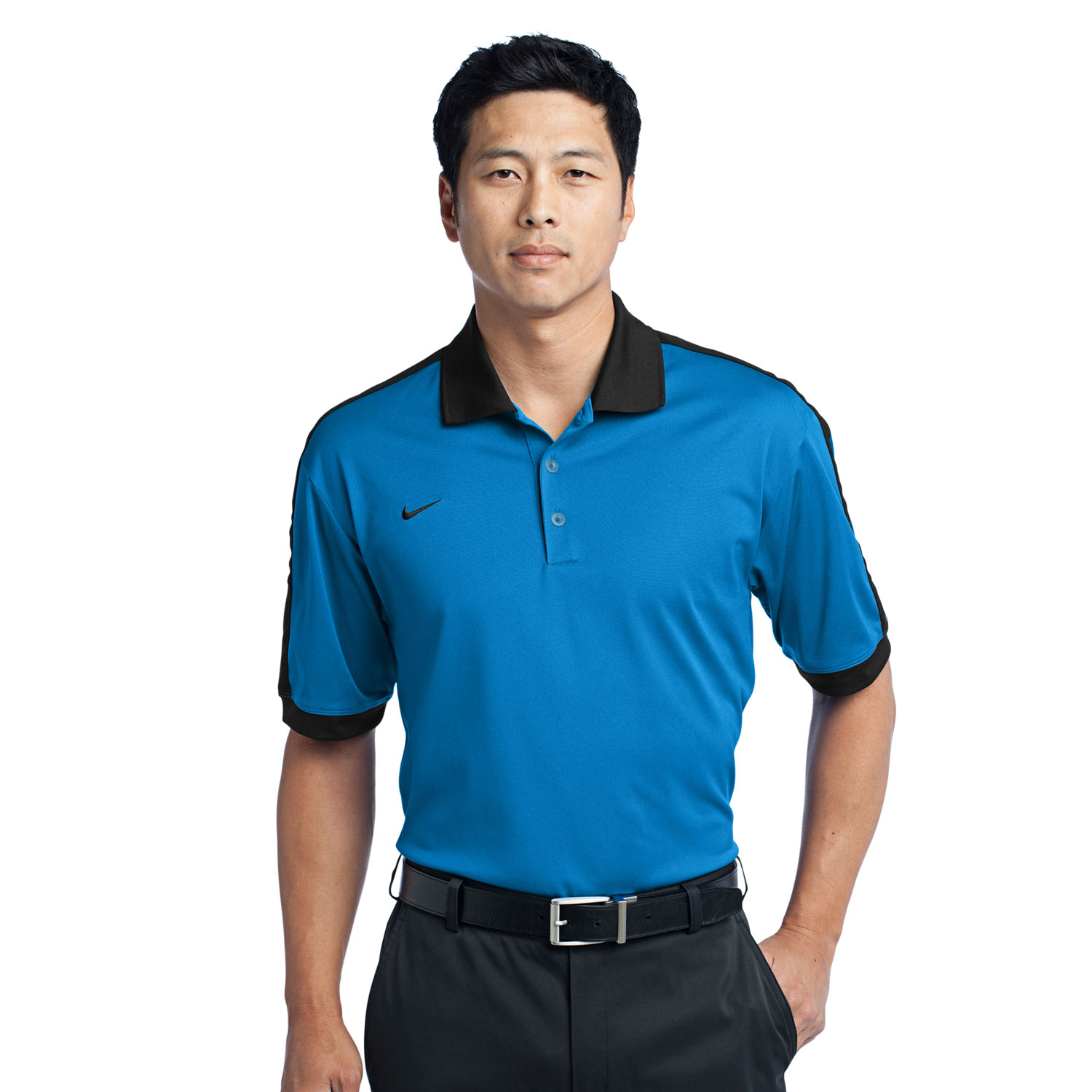 Nike golf contrast two tone color men 39 s dri fit n98 polo for Mens dri fit polo shirts wholesale