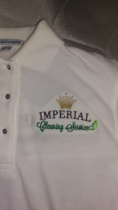 Imperial Cleaning Services Front embroidery
