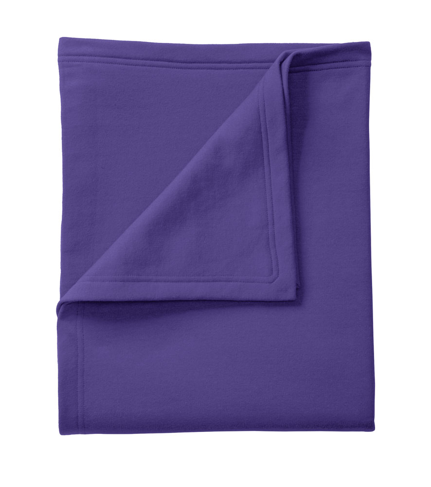 Fleece sweatshirt blanket