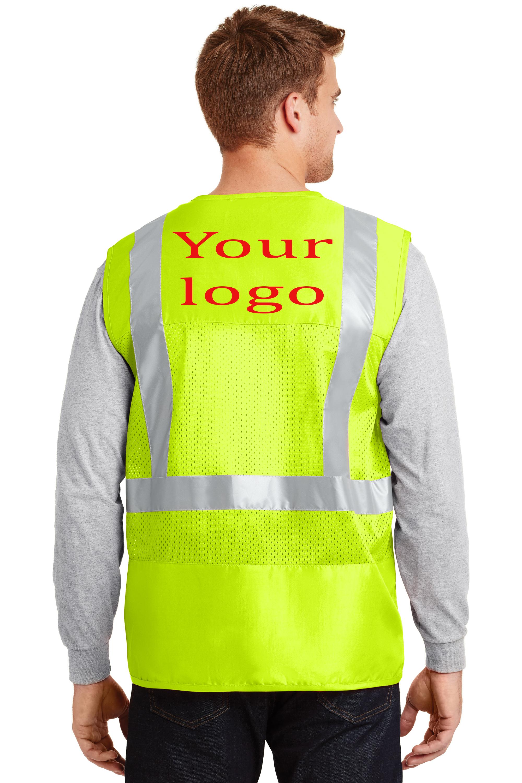 Safety Class 2 Mesh Back vinyl print logo
