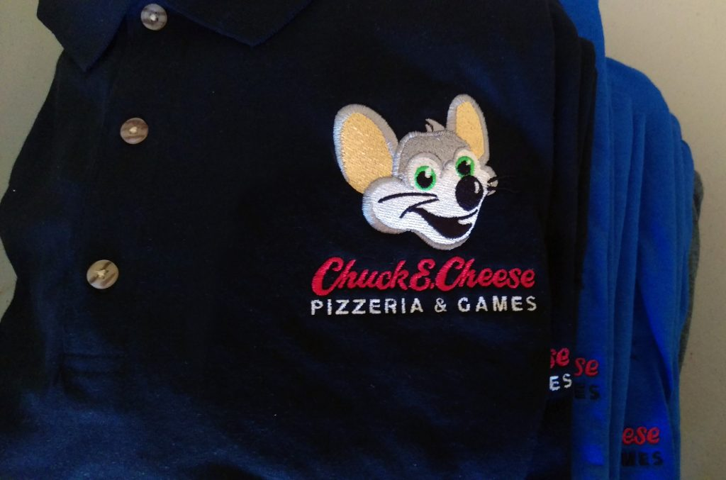 Embroidered Uniform for Chuck e Cheese