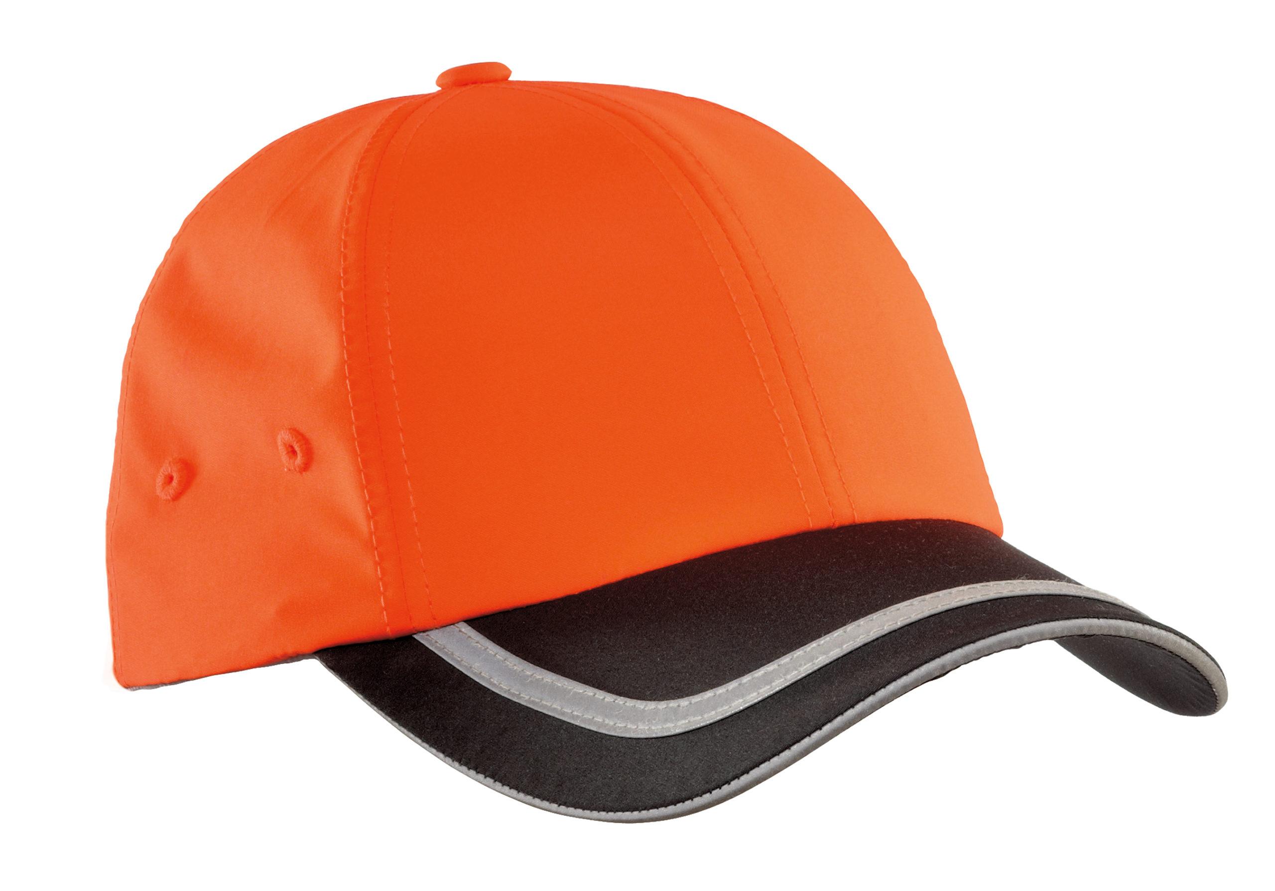 safety hat orange and black