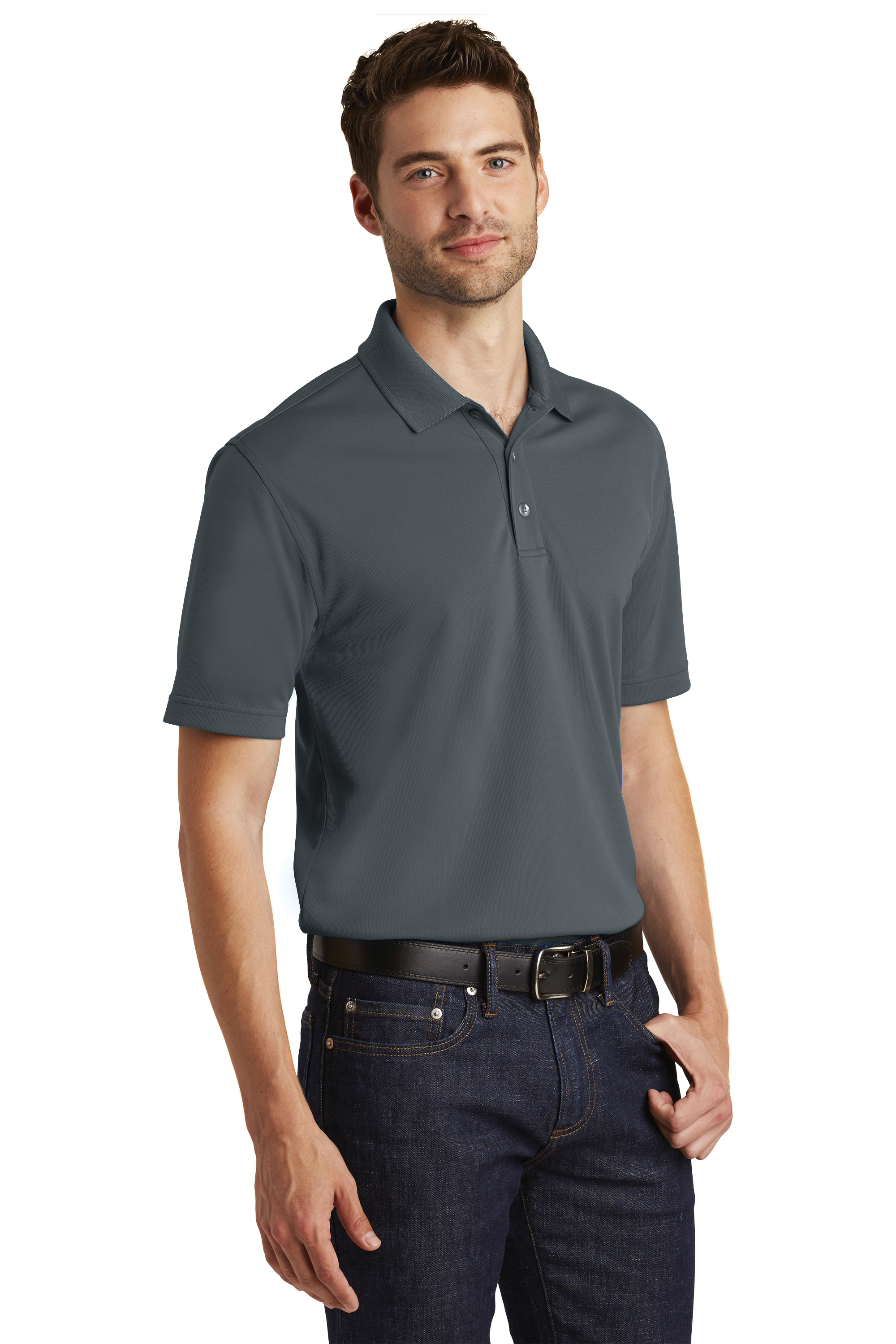 f5b003edc02a7 Port Authority® Dry Zone® UV Micro-Mesh Polo with custom embroidery ...
